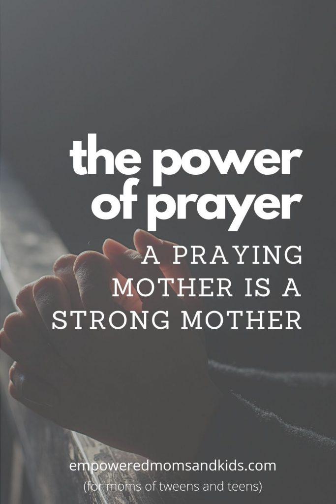 a praying mother
