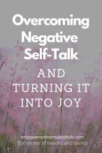 overcoming negative self-talk