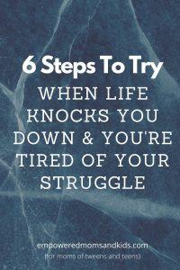 life knocks you down