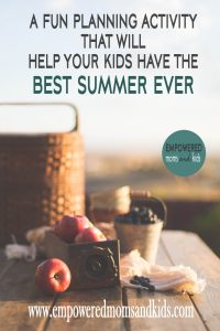 summer planning activity for kids