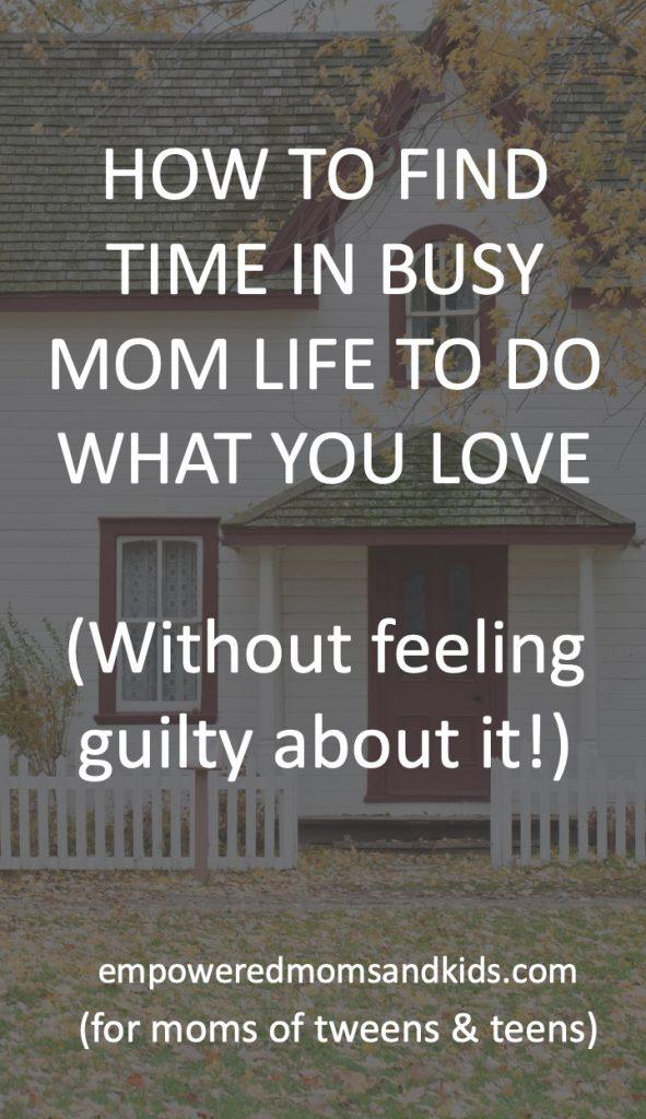 find more time moms