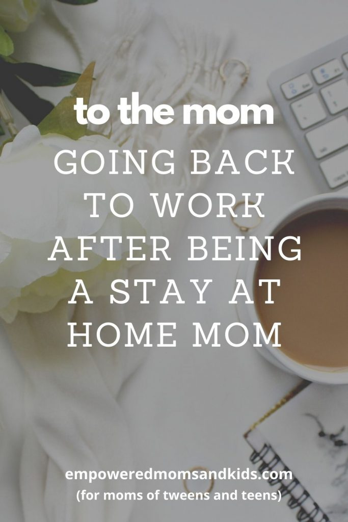 mom going back to work