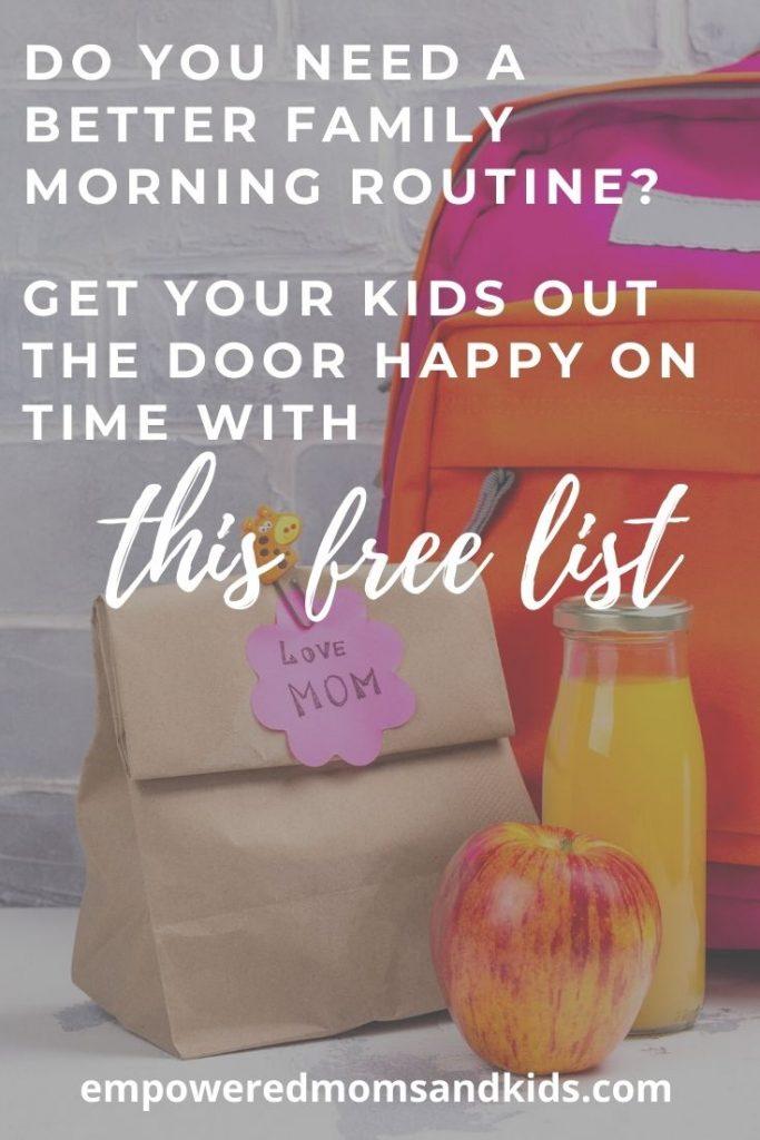 kids morning routine checklist